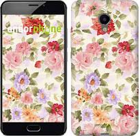 "Чохол на Meizu M3e Квіткові шпалери ""820u-607-535"""