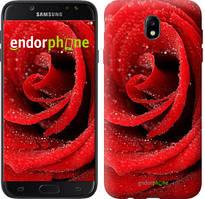 "Чехол на Samsung Galaxy J7 J730 (2017) Красная роза ""529c-786-535"""
