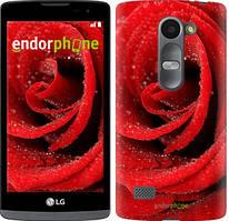 "Чехол на LG Leon H324 Красная роза ""529c-403-535"""
