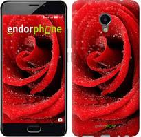 """Чохол на Meizu M3e Червона троянда """"529u-607-535"""""""