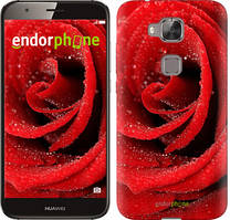 """Чехол на Huawei G8 Красная роза """"529c-493-535"""""""