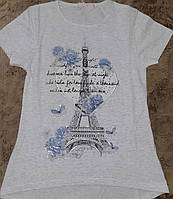 Стильная футболка для девочек 8-16 лет