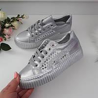 Кросівки літні  жіночі сріблясті