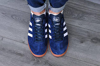 Кроссовки мужские Adidas Hamburg.Темно синие, фото 2