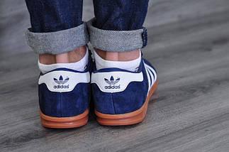 Кроссовки мужские Adidas Hamburg.Темно синие, фото 3
