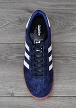 Кроссовки мужские Adidas Hamburg.Темно синие , фото 2