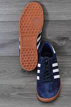 Кроссовки мужские Adidas Hamburg.Темно синие , фото 3