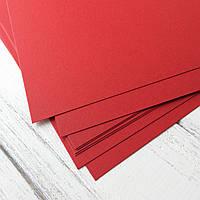 Картон дизайнерський - червоний - з фактурою - 21,5х20 см - 280 г./м.кв