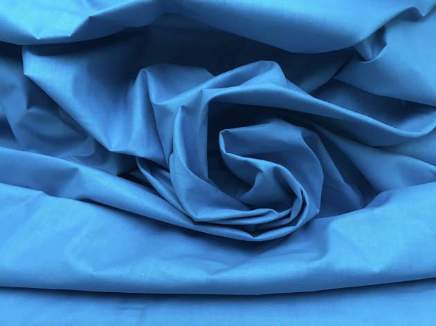 Польская хлопковая ткань лазурная 160 см, фото 2
