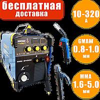 Инверторный полуавтомат Искра Профи Cobalt MIG 340 DC, сварочный полуавтомат 2 в 1 MIG/MAG MMA, сварка миг маг