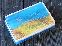 Оригинальное подарочное мыло ручной работы с картинкой  З Днем захисника