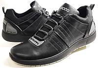 Мужские Осень-Весна Кожаные кроссовки туфли  biom comfort - black Польша, фото 1
