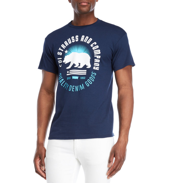 Мужская футболка  Levi's® Bohr Bear Logo Tee - Navy