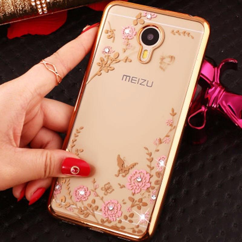 Чехол Luxury для Meizu M5 Бампер Gold