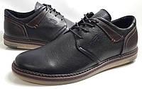 Мужские Осень-Весна Кожаные туфли Tommy Hilfiger model M-48 чёрные Польша, фото 1