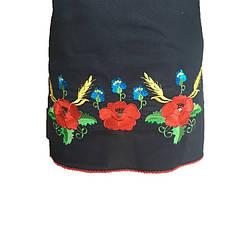 Черное платье вышиванка маки, фото 2