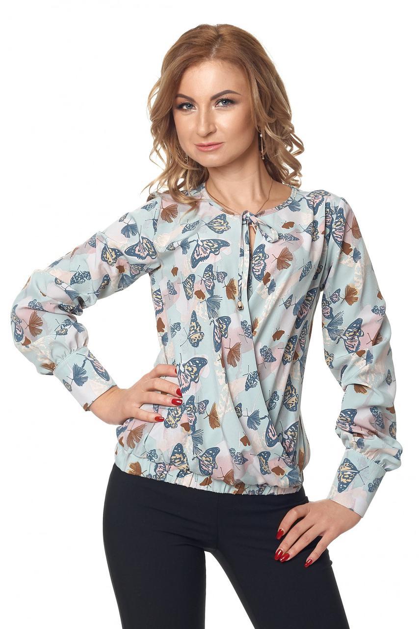 Яркая модная летняя женская блуза на запах
