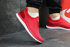 Летние мужские кроссовки Nike,красные,сетка 44р, фото 3