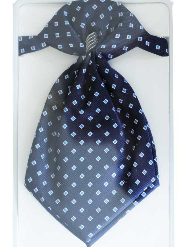 Галстук - пластрон темно-синий арт. 13384