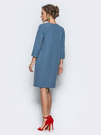 Лаконічне офісне плаття костюмна тканина  розмір 44,46,48,50,52,54, фото 2