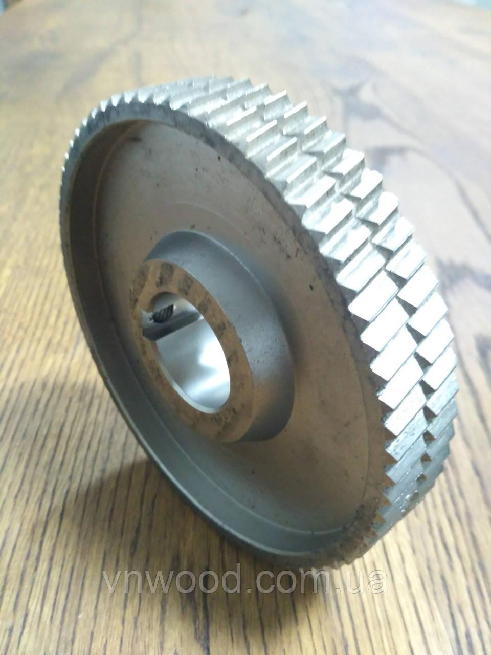 Подаючий ролик чотирьохстороннього станка Φ140XΦ35x25 (метал)
