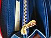 Кошелек Louis Vuitton Люкс синий с цветной силиконовой молнией, фото 2