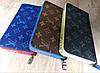 Кошелек Louis Vuitton Люкс синий с цветной силиконовой молнией, фото 4