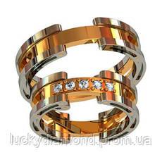 Золотое обручальное кольцо 801420_
