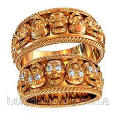 Золотое обручальное кольцо 801430_
