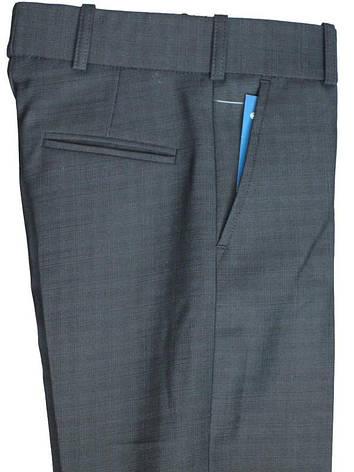 """Школьные брюки  для мальчика  """"Кембридж"""" синие в клетку , фото 2"""