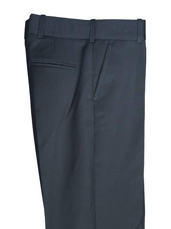 """Шкільні чорні штани для хлопчика 122-158 зросту """"Сорбона"""" в дрібну клітку, фото 2"""