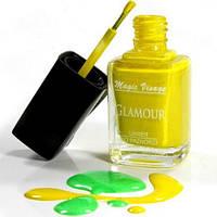 Стойкий лак для ногтей Glamour (12 мл). Декоративная косметика со склада.