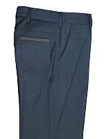 """Школьные брюки для мальчика  """"Марсель""""черные в широкую клетку"""