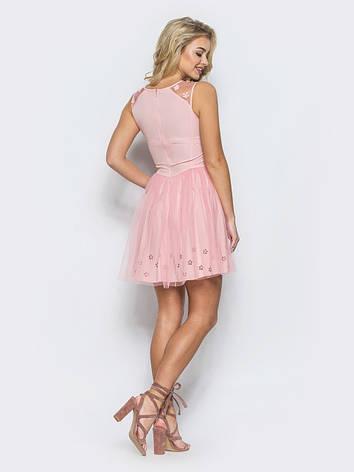 Легке і ніжне плаття з фатину розовий розмір 42,44, фото 2