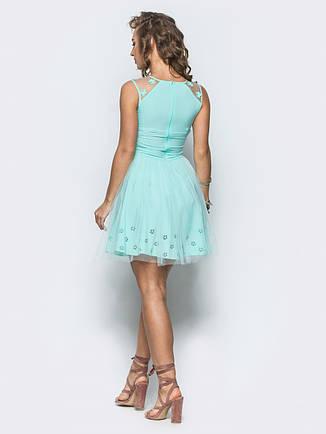 Легке і ніжне плаття з фатину голубий розмір 42,44, фото 2
