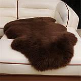 Овчина коричнева шкура шоколадного кольору, темні овечі шкури, фото 6