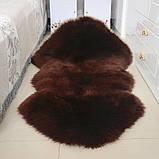 Подвійна темно коричнева овчина меринос з Нової Зеландії, фото 2