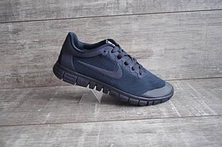Кроссовки мужские NIKE Free Run 3.0.Темно синие,сетка, фото 2