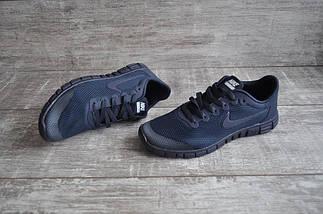 Кроссовки мужские NIKE Free Run 3.0.Темно синие,сетка, фото 3