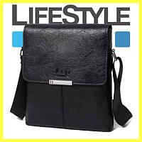 Чоловіча шкіряна сумка-планшет Jeep Corsa чорна. + Два подарунки, фото 1