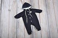 Ангоровый человечек, темно-синий, 56-80 ( комбинезон детский )