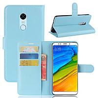 "Чехол IETP для Xiaomi Redmi 5 Plus 5.99"" книжка кожа PU голубой, фото 1"