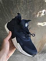 Кроссовки мужские Nike Huarache RUN Ultra.Синие,белые, фото 3