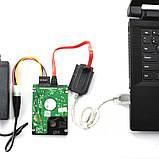 !РАСПРОДАЖА Адаптер переходник 305 USB SATA IDE HDD DVD +бп, фото 7