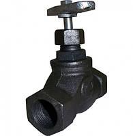 Вентиль (клапан) запорный чугунный 15кч18п (15кч33п) Ру16
