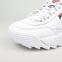 Женские и мужские кроссовки Fila Disruptor 2(II) White, фото 3