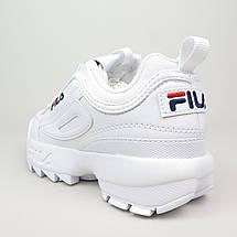 Мужские и женские кроссовки Fila Disruptor 2(II) White, фото 2