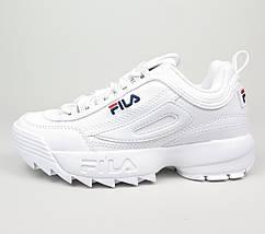 Женские и мужские кроссовки Fila Disruptor 2(II) White, фото 2