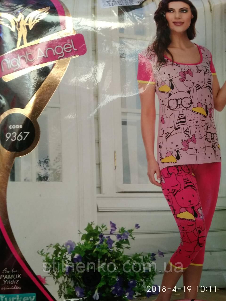 """Комплект футболка+бриджами """"Night Angel"""" женский"""
