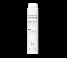 Caviar shampoo KROM. Шампунь защитный с протеинами, экстрактом икры, экстрактом морских водорослей 250 мл